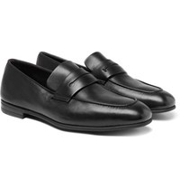 Ermenegildo Zegna Asola Leather Penny Loafers Black