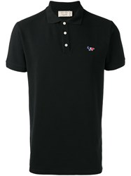 Maison Kitsune Slim Fit Polo Shirt Black