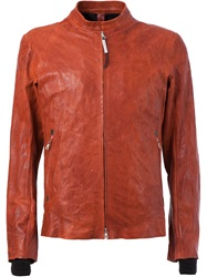 Isaac Sellam Experience Zip Front Lambskin Jacket Yellow And Orange
