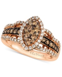 Le Vian White And Chocolate Diamond Ring In 14K Rose Gold 1 1 4 Ct. T.W.