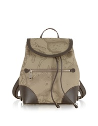 Alviero Martini 1A Prima Classe Geo Printed Neo Casual Backpack Taupe