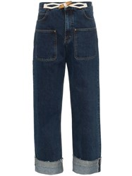 J.W.Anderson Jw Anderson High Waisted Wide Leg Jeans Blue