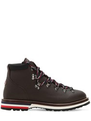 Moncler Peak Leather Hiking Boots Brown