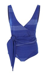 Lisa Marie Fernandez Dree Wrap One Piece Blue