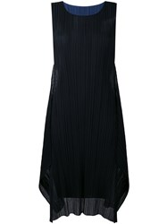 Issey Miyake Pleats Please By Pleated Detail Shift Dress Women Polyester 1 Black