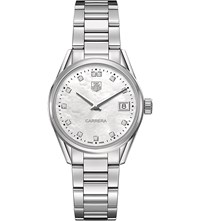Tag Heuer War1314.Ba0773 Carrera Stainless Steel And Mother Of Pearl Watch