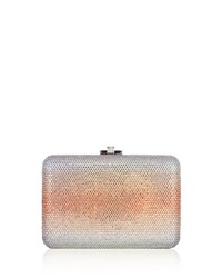 Judith Leiber Slim Slide Crystal Evening Clutch Bag Aurum Ombre Peach