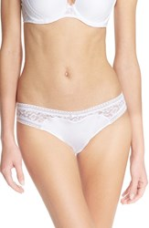 Passionata Women's 'Miss Fashion' Lace Thong White