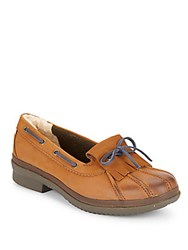 Ugg Haylie Leather Boat Shoes Tan