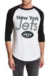 Junk Food New York Jets Baseball Tee White