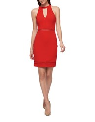 Guess Halter Keyhole Dress Hot Red