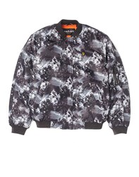 Farah Vintage Ma1 Bomber Jacket With Print Grey