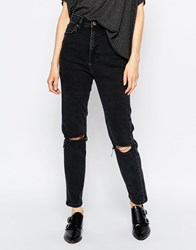 Dr. Denim Dr Denim Cropa Cabana High Waist Cropped Skinny Jeans Black