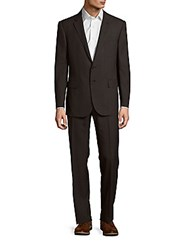 Polo Ralph Lauren Classic Fit Textured Woolen Suit Charcoal Black
