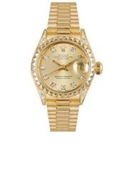Rolex Vintage 18K Yellow Gold Datejust Watch Gold One Colour