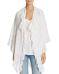 Minnie Rose Ruffle Shawl White