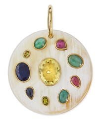 Ashley Pittman Taka Multi Stone Pendant Enhancer Light Horn Bronze