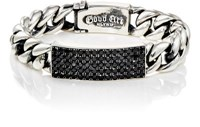 Good Art Hlywd Men's Classic Id Bracelet Black