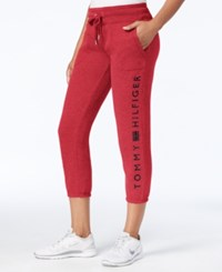 Tommy Hilfiger Fleece Logo Sweatpants Only At Macy's Scarlet