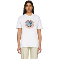 Baja East White Stallion Medallion T Shirt