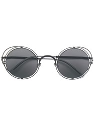 Mykita Round Tinted Sunglasses Black