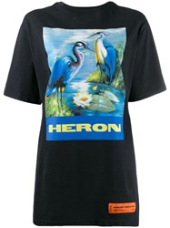 Heron Preston Oversized Print T Shirt Blue
