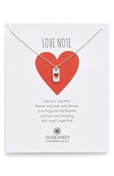 Women's Dogeared Heart Dog Tag Pendant Necklace Nordstrom Exclusive