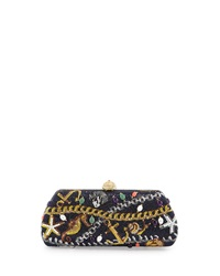Judith Leiber Couture Charmed Long Crystal Evening Clutch Bag Champage D