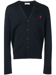 Ami Alexandre Mattiussi Paris Cardigan De Coeur Patch Blue