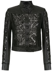 Martha Medeiros Gabi Leather Jacket Black