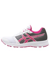 Asics Patriot 8 Cushioned Running Shoes White Sport Pink Silver