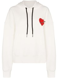 Palm Angels Pin My Heart Hoodie White