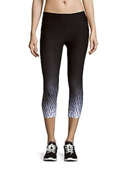 Calvin Klein Cropped Ombre Pants Black White Combo