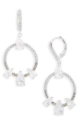 Judith Jack Women's Lend An Ear Circle Drop Earrings Black Diamond Marcasite