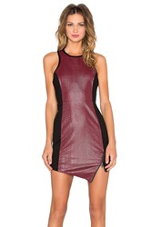 Lovers Friends X Revolve Simmer Bodycon Dress Burgundy
