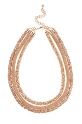 Coast Sawyer Sparkle Chain Necklace Rose Gold
