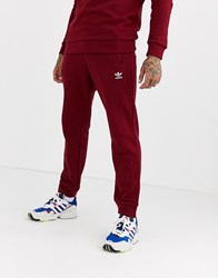 Adidas Originals Joggers With Logo Embroidery In Burgundy Red