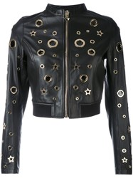 Philipp Plein Charly Jacket Women Sheep Skin Shearling S Black