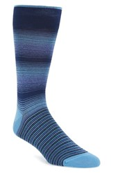 Bugatchi Men's 'Ombre Stripe' Socks Sky