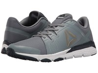 Reebok Trainflex Asteroid Dust White Collegiate Navy Pewter Black Men's Cross Training Shoes Gray