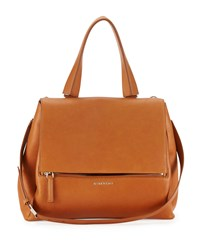 Pandora Pure Medium Leather Satchel Bag Hazel Givenchy Camel