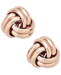 Giani Bernini Love Knot Stud Earrings In 18K Rose Gold Plated Sterling Silver Only At Macy's
