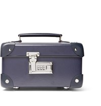 Globe Trotter Leather Trimmed Watch Case Navy