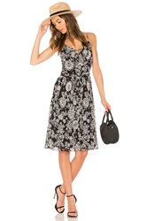 Ella Moss Ria Floral Dress Black