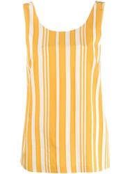 Chinti And Parker Striped Tank Top Yellow