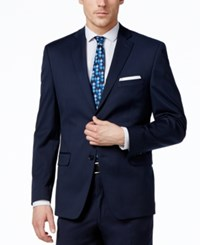 Alfani Red Men's Traveler Navy Solid Slim Fit Jacket Only At Macy's