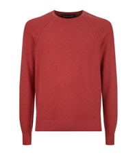 Michael Kors Roll Trim Crew Neck Jumper Male Red
