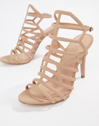 Madden Girl Heeled Sandals Beige