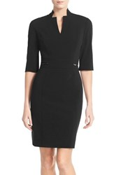 Tahari Women's Bi Stretch Sheath Dress New Black
