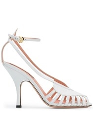 Rochas Cut Out Sandals White
